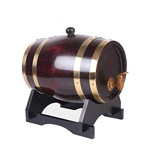 Barril de Roble Barril de Vino Barril de Hogar Barril de Roble del barril de vino, vino de madera especial dispensador, almacenamiento de cerveza whisky vino cóctel de ron 5L (Color : Retro color)