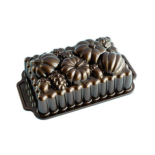 Nordic Ware 91648 Harvest Bounty Loaf Pan, Bronze, One Size