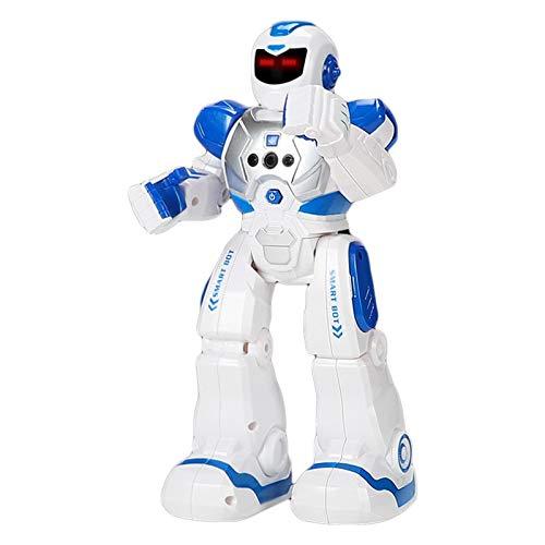 Waroomss Robot De Juguete - RC Robot Programable Juguete Educativo Recargable Robots Juguete De Control Remoto Robot Inteligente Multifuncional con Baile Cantante Juguete De Regalo para Niños