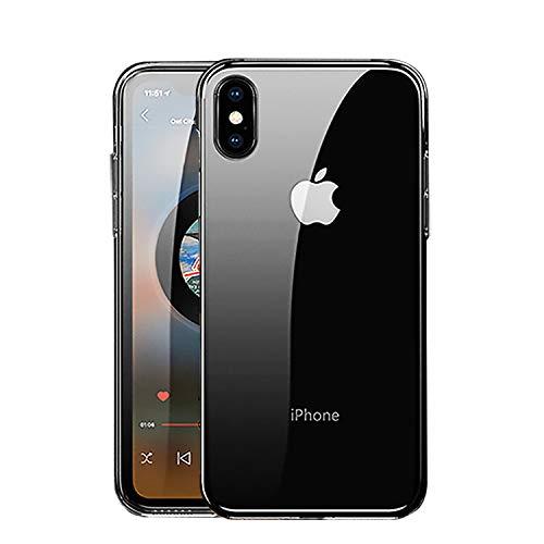 NEW'C Cover Compatibile con iPhone XS Max, Custodia Gel Trasparente Morbida Silicone Sottile TPU [Ultra Leggera e Chiaro]