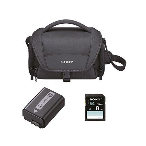 Sony ACCUSFW1 ILCE-Kit inkl. LCS-U21, NP-FW50 (W-Akku) und Speicherkarte (SF-8N4)