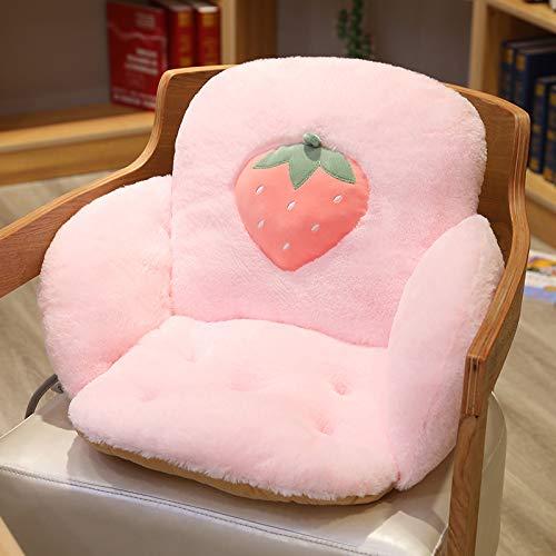 Onwaymall Cojín reversible suave y acogedor, cojín de felpa, cómodo cojín de asiento para decoración del hogar, oficina, silla para la espalda, coxis, ciática, alivio del dolor (40 x 40 x 35 cm, 2)