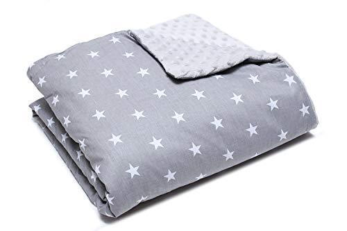 Couverture bebe Doudou bebe coton et polaire doux 80cm x 100cm (étoiles)