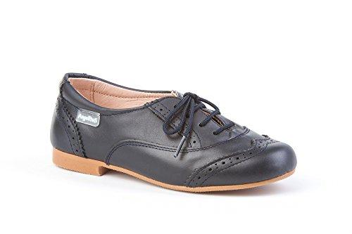 Zapatos Blucher para Niñas Todo Piel mod.1394. Calzado Infantil Made in Spain, Garantia de Calidad.
