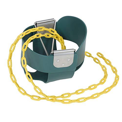 SMBYLL Asiento de columpio para niños con respaldo alto, totalmente montado, color verde