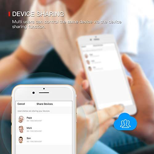 TECKIN WiFi Enchufe Inteligente 16A 3300W Mini Smart Plug Funciona con Siri Amazon Alexa Echo, Google Home, Control remoto con temporizador