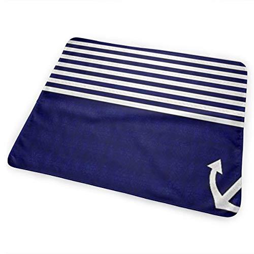 licht Saber DUN Navy Blauw Liefde Anker Nautische Draagbare Veranderende Pad, Opvouwbare Pad met wandelwagen Band & Pocket voor Luiers & Wipes