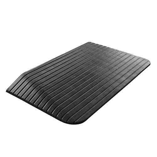 North American Wellness Non-Slip Rubber Threshold Ramp for Safe Mobility