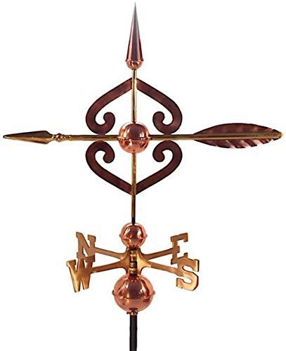 chaozhi Veleta para Techo Veleta de Metal con Soporte de Montaje Decoración de Techo - Diseño de Flecha, dirección Este, suroeste, Norte