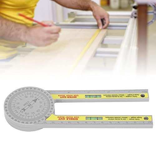 Medidor de ángulo de carpintería, regla de medidor de ángulo Instrumentos de medición de goniómetro de carpintería de alta precisión