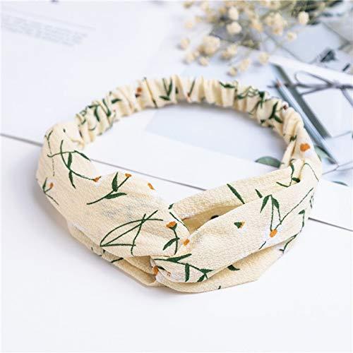 Mode Frauen Mädchen Sommer Böhmische Haarbänder Druck Stirnbänder Vintage Cross Turban Bandage Bandanas Hairbands Haarschmuck - 28