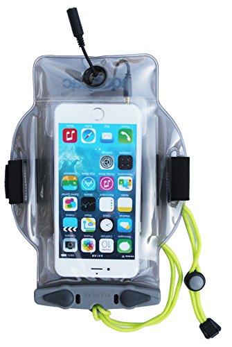 AQUAPAC Smartphone Tasche mit Kopfhörerausgang MP-3, Grau-Transparent, 23 x 17 x 2.5 cm, 0.02 Liter, 519