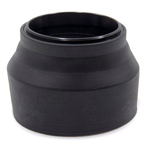 vhbw Gegenlichtblende passend für Samsung NX Lens 50-200 mm 4-5.6 II ED OIS i-Function Objektiv Gummi 52mm schwarz