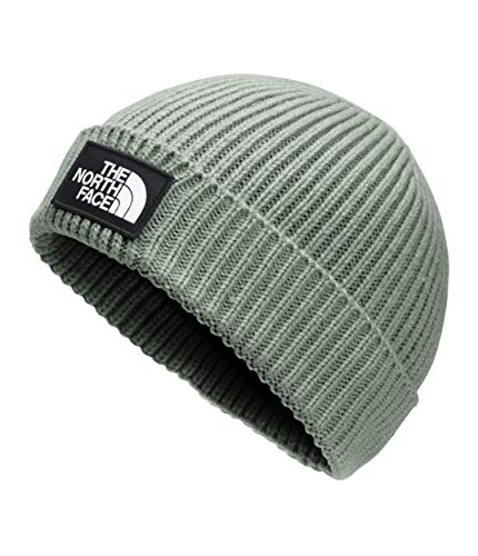 The North Face TNF Logo Box Cuffed Beanie, Agave Green, OS-REG