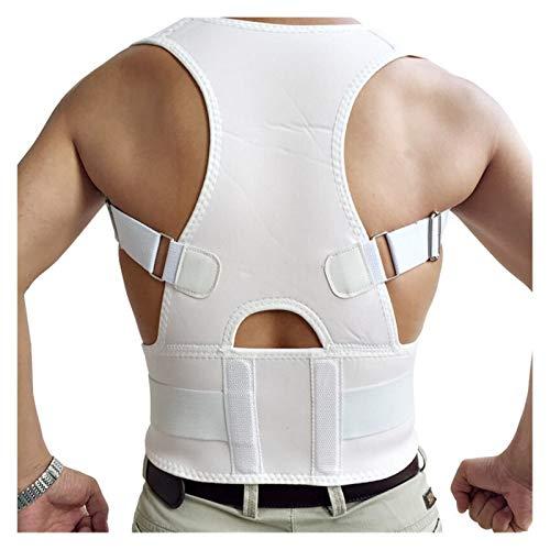 DSMYYXGS Unisex Ajustable Espalda Postura Corrector Brace Espalda Hombro Soporte cinturón Postura corrección cinturón para Hombres Mujeres Negro S-XXL (Color : White, Size : Medium)
