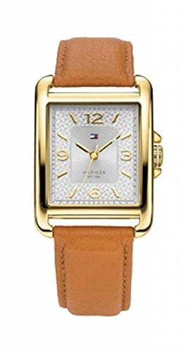 Tommy Hilfiger Watches Leder 1781210 - Reloj analógico de Cuarzo para Mujer, Correa de Cuero Color marrón