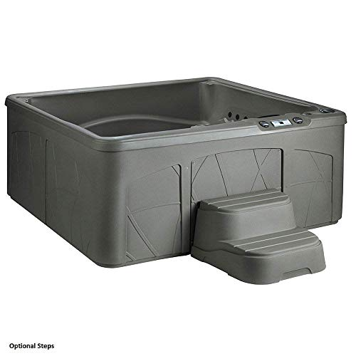 LifeSmart LS350DX 5 Person Outdoor Patio Hot Tub Spa w/ 28 Jets & Cover, Taupe