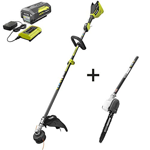 Learn More About RYOBI RY40270-PRN 40-Volt Lithium-Ion Brushless Cordless Attachment Capable String ...