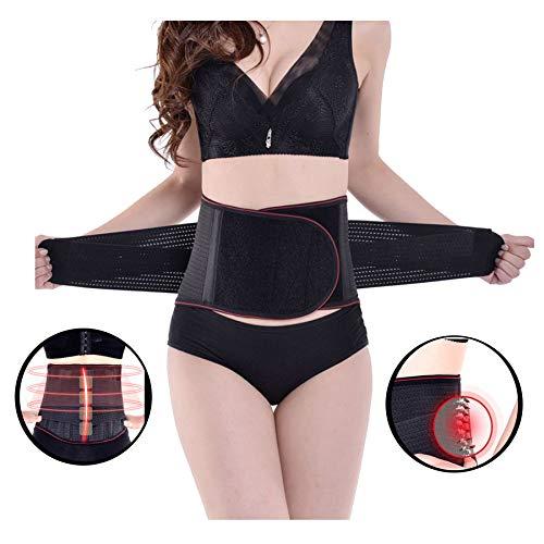 ZSZBACE Selbsterhitzende magnetische Rückenstütze & doppelter magnetischer Lendenwirbelstützgürtel & Selbsterhitzungs L