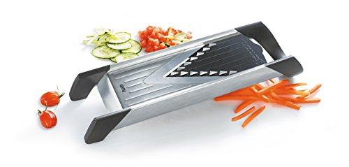 GEFU 55700 Gourmet-Hobel VIOLINO - Gemüse-Reibe aus Edelstahl und Kunststoff - Gemüsehobel mit drei Schneideflächen