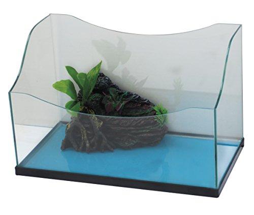 CROCI Liberty Aquarium de Tortue 40 x 22 x 17/25,5 cm