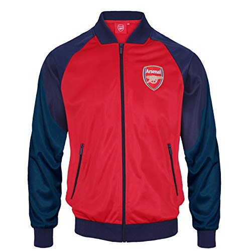 Arsenal FC Official Soccer Gift Mens Retro Track Top Jacket Red Large