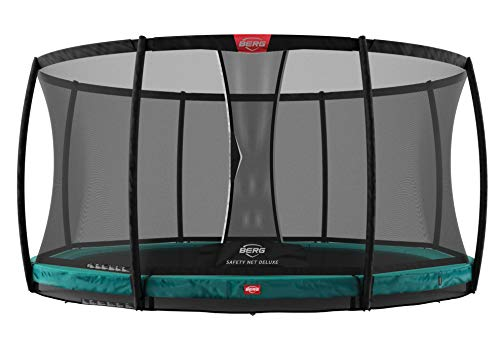 BERG Trampoline Inground Champion 14ft with Safety Enclosure Net Deluxe | Trampoline for kids, High Performance & Safety Features, Longer Lifetime Warrenty, Jump higher with TwinSpring and Airflow