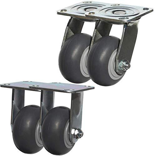Wielen 4 inch rubber remtrolley wiel steiger wiel zware 4 inch (4 pakketten)
