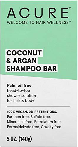 ACURE Coconut & Argan Shampoo Bar | 100% Vegan | Performance...