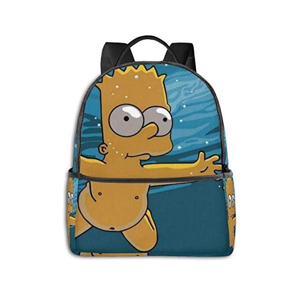 412VM4Lz5EL. SS600  - Anime Cartoon Simpsons - Mochila para Estudiantes, Unisex, diseño de Dibujos Animados, 14,5 x 30,5 x 12,7 cm