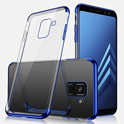 Buy Discount Herbests Compatible with Samsung Galaxy A8 Plus 2018 Case Crystal Slim Fit Soft TPU Sil...
