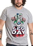 LEG DAY Funny Weight Lifting Olympic Barbell Training Squat Work Out Tshirt(Adult,L),Sport Grey