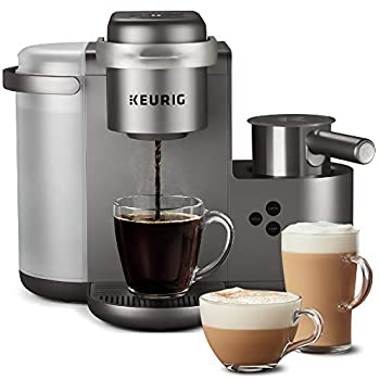 Keurig K-Cafe Special Edition Coffee Maker Single Serve K-Cup Pod Coffee Latte and Cappuccino Maker Comes with Dishwasher Safe Milk Frother Coffee Shot Capability Nickel  Renewed