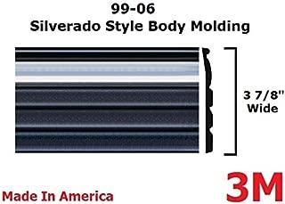 Automotive Authority Chrome/Black Side Body Trim Molding for 1999-2006 Chevy Silverado - 3 7/8