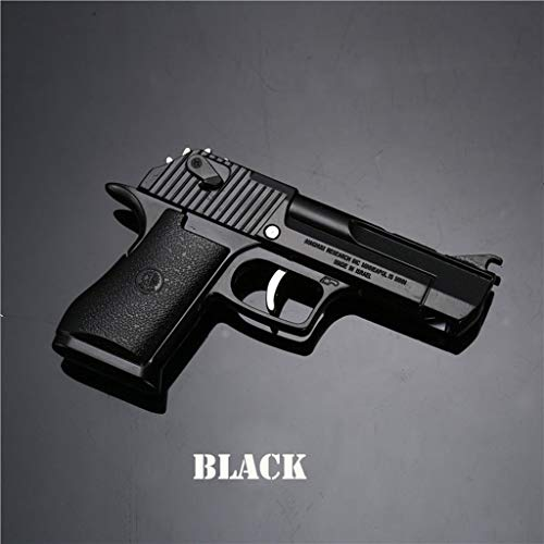 Alloy Desert Eagle Foldable Rubber Band Model Toys Gun 12 Even Launch Action Figure (Black)