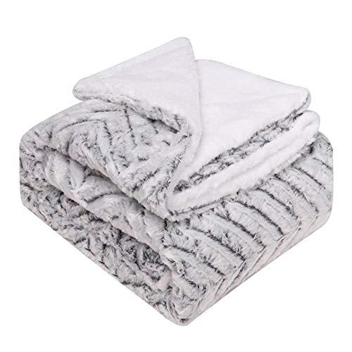 Cxssxling - Manta de felpa de doble capa de franela gruesa, suave y cómoda, manta de cama, funda de sofá, funda – 152 x 127 cm