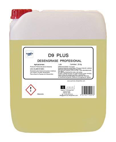 D9-PLUS (20L) DESENGRASANTE FILTROS Y PLANCHAS COCINAS.