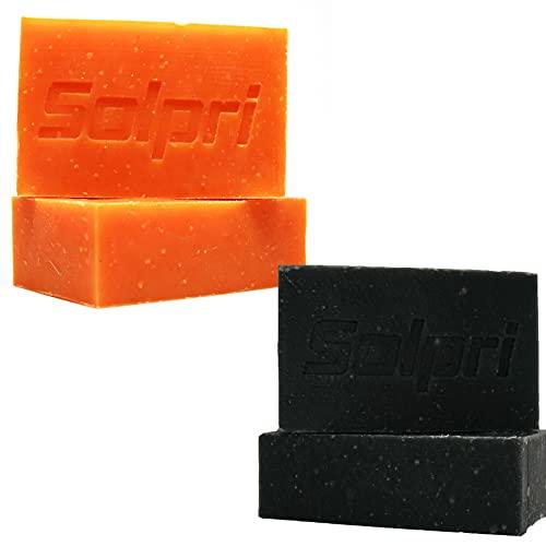 Solpri Shield Ultimate Skincare Bundle Original & Charcoal Soap Bar Lemongrass Tea Tree