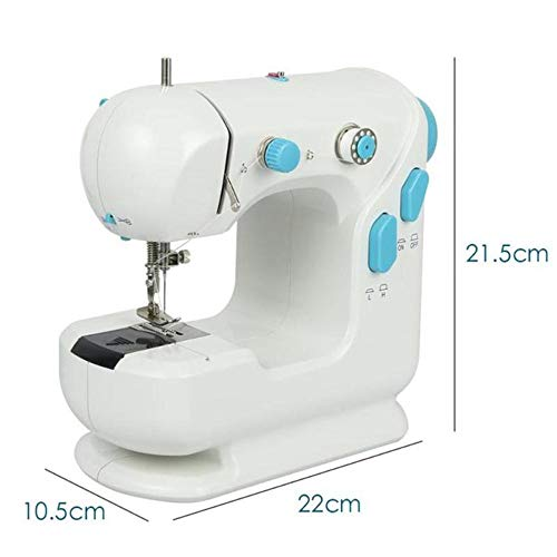 Elikliv Sewing Machine for Beginner Sewing Machine with Expanding Board Portable Clothes Fabric Electric Sewing Machine Automatic Winding Low Noise Quick Stitch Sew Needlework