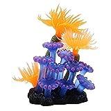 Gpzj Simulación de Acuario de Silicona anémona de mar de Coral Plantas acuáticas Artificiales pecera decoración de Paisaje Exquisita
