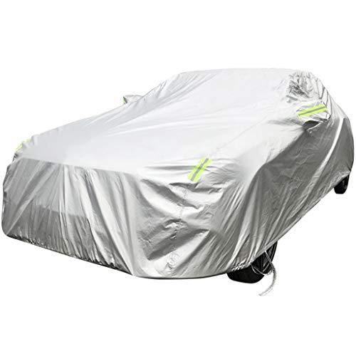 Deckung Kompatibel mit Porsche Taycan Regendicht Allwetter Car Full Coverage Cover Plus Velvet Schneeschutz Hitze Movable Carport Flammenhemmende Auto Regenschirm-Abdeckung (Color : Silver)