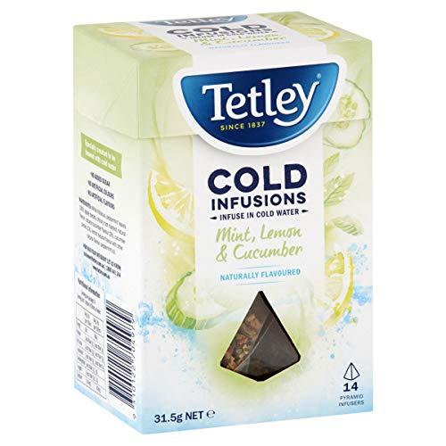 Tetley Cold Infusions Mint, Lemon & Cucumber Tea Bags, 14 pack