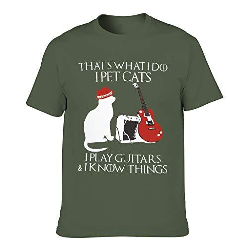 Camiseta de manga corta para hombre, diseño de gatos divert
