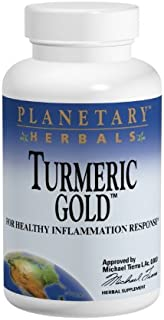 Planetary Herbals Turmeric Gold 500mg, for Healthy Inflammation Response, 60 Capsules