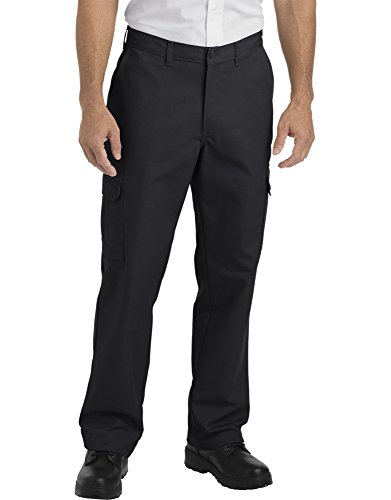 Dickies Occupational Workwear LP600BK3430 LP600 Industrial Relaxed Fit Straight Leg Cargo Pant, Fabric, 34