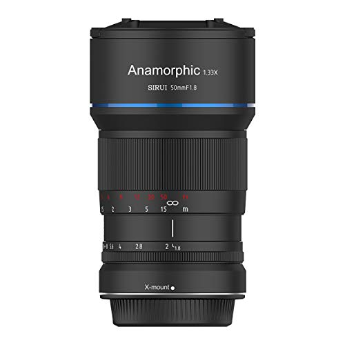 Sirui SR-MEK7X Objektiv 50mm Anamorphot (Blende f1.8, Faktor 1.33x, Bajonett X-Mount) schwarz