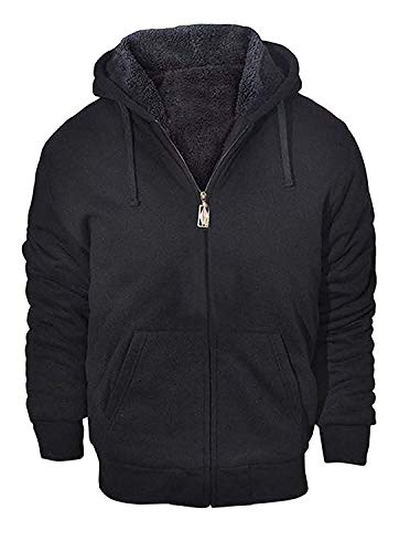 GEEK LIGHTING Mens Outdoor Recreation Fashion Active Jersey Slim Fit Hoodie Sweatshirts Black Large
