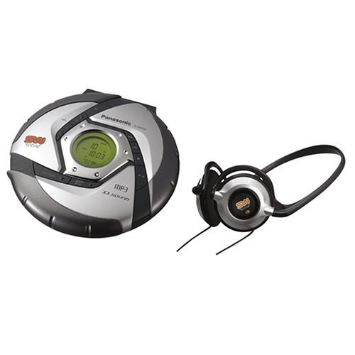 Panasonic SW947 Shockwave Water-Resistant Portable CD / MP3 Player with D.Sound Technology (Silver)