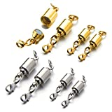 Zpsolution Screw Magnetic Clasps for Necklaces Safety Magnetic Locking Jewelry Clasp Converter