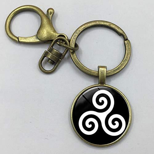 MENGYUE Keychain;Teen Wolf Triskele Keychain Triskelion Allison Argent Keychain Glass Cabochon Keychain